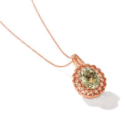 Le Vian 14K Strawberry Gold® Mint Julep Quartz™ Pendant