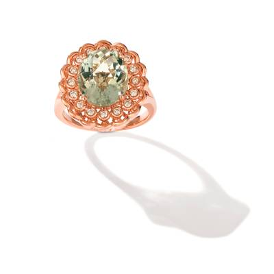 Le Vian 14K Strawberry Gold® Mint Julep Quartz™ Ring
