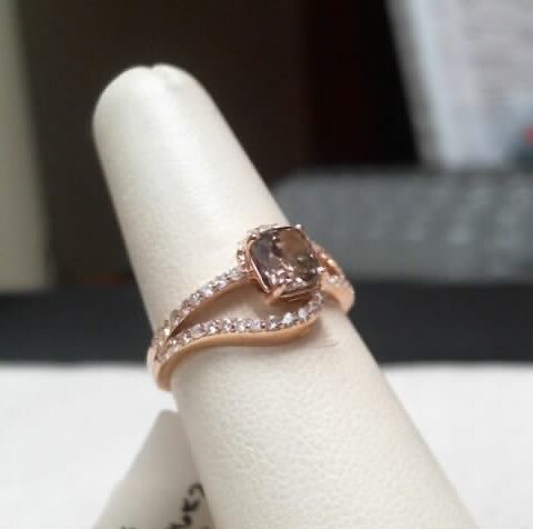 MWI Eloquence 14K Rose Gold Diamond Ring