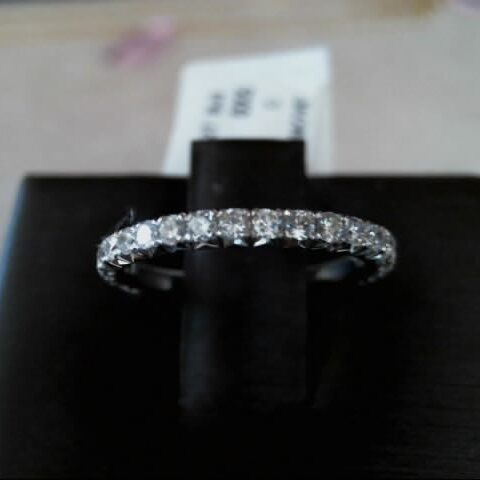 MWI Eloquence 14K White Gold Diamond Wedding Band