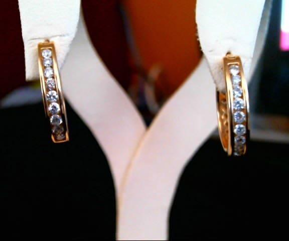 MWI Eloquence 14K Yellow Gold Diamond Earrings