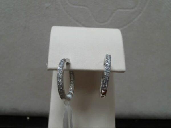 MWI Eloquence 14K White Gold Diamond Earrings