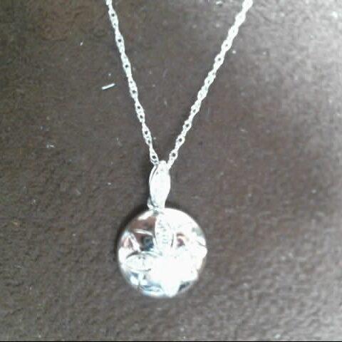 MWI Eloquence 14K White Gold Diamond Pendant