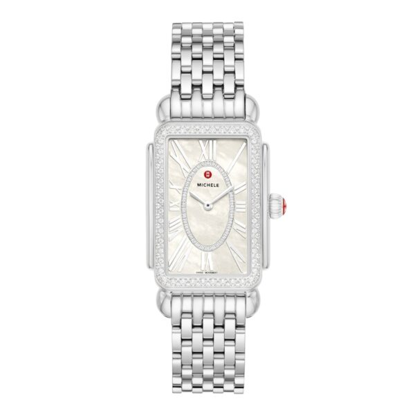 MICHELE Deco Park Stainless Steel Diamond Watch